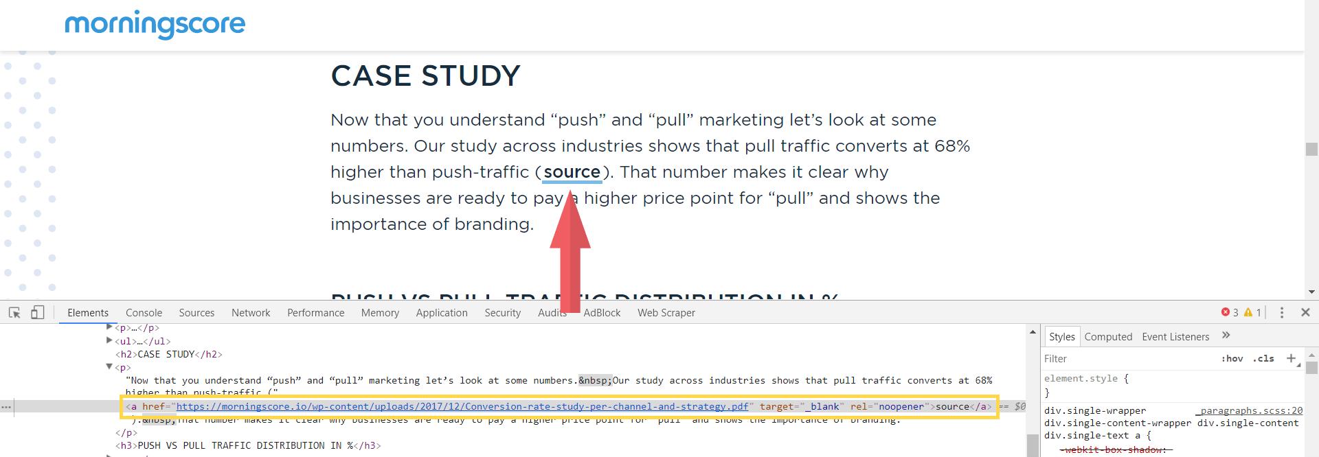morningscore case study backlinks example