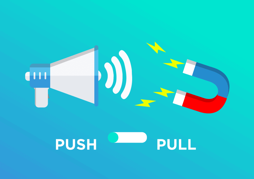 Push vs pull promotionstrategi