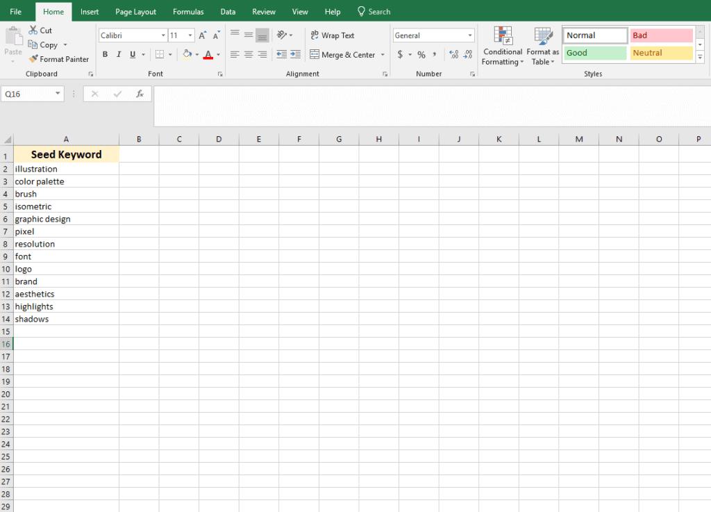 Søgeord brainstorming eksempel