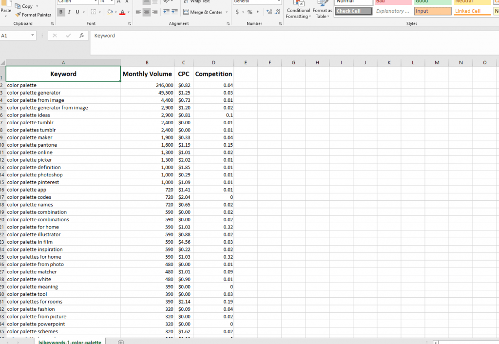 how to filter good long tail keywords from csv