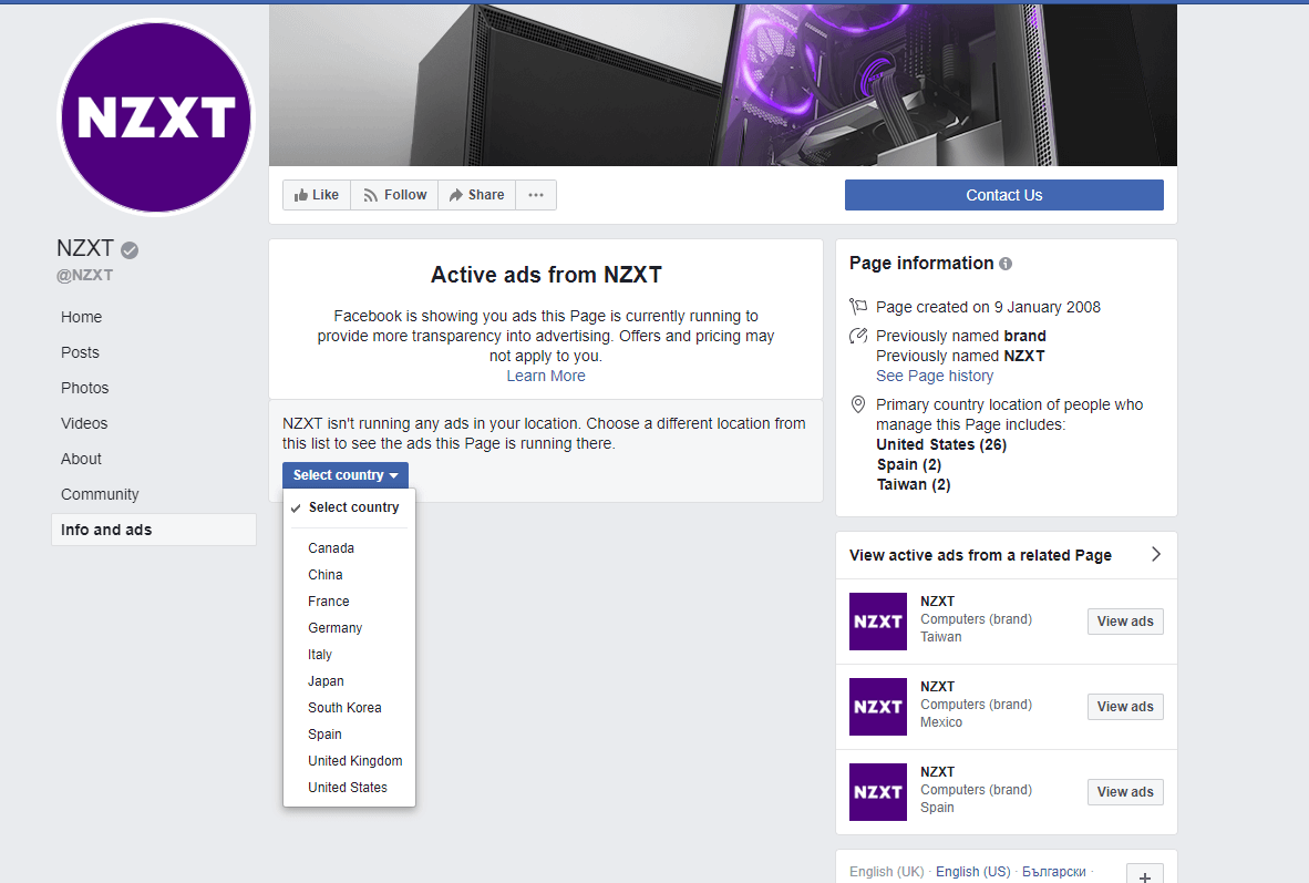 nzxt examples with sales promotion on facebook companies using outbound strategies