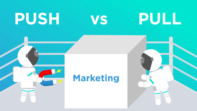 push vs pull marketing blog post featured image