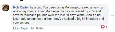 morningscore testimonial calculate potential roi on seo