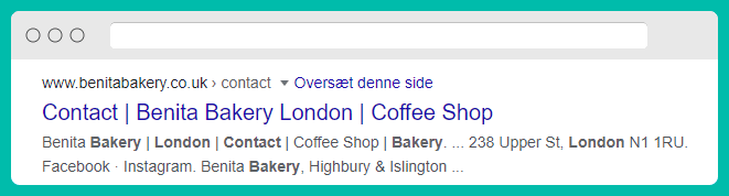 An example of a bad contact page meta description