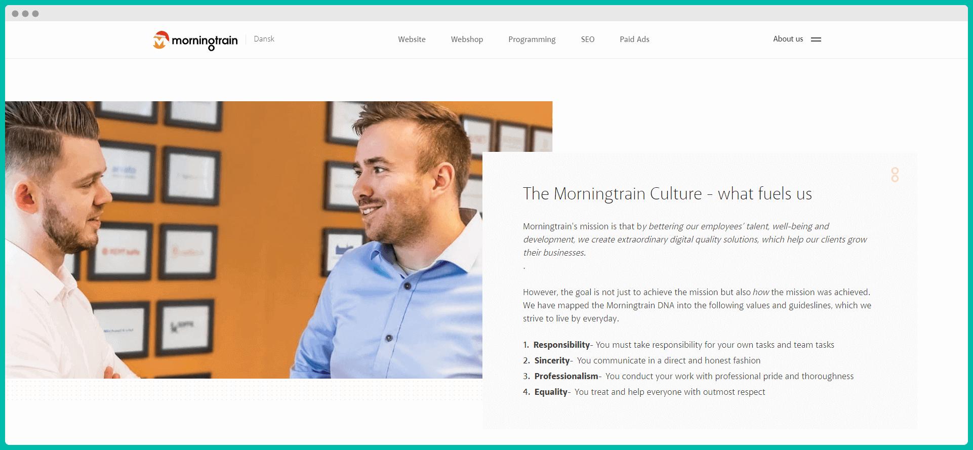 Company culture example