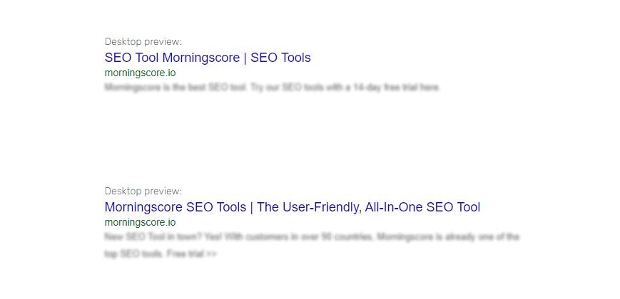 singular or plural keywords example of title tag with seo tool as keyword