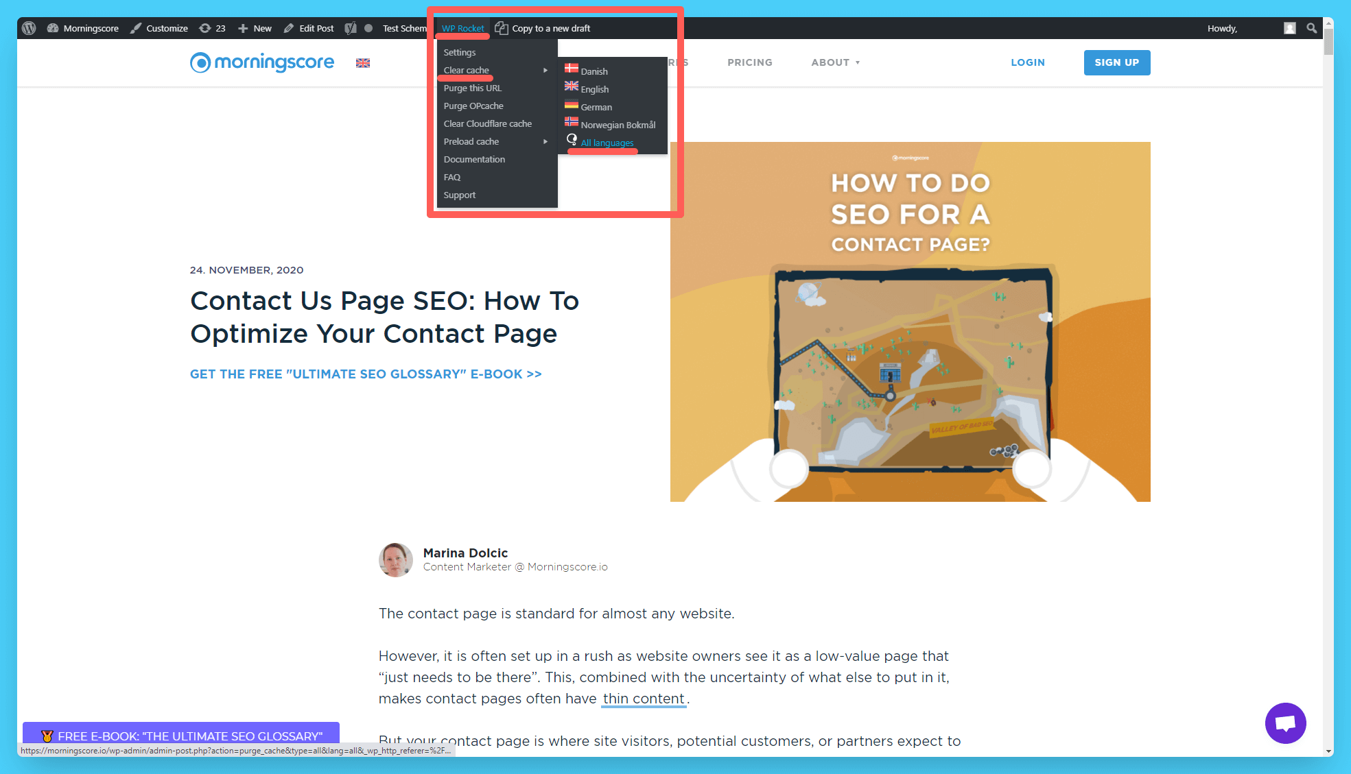clearing cache to see changes with images