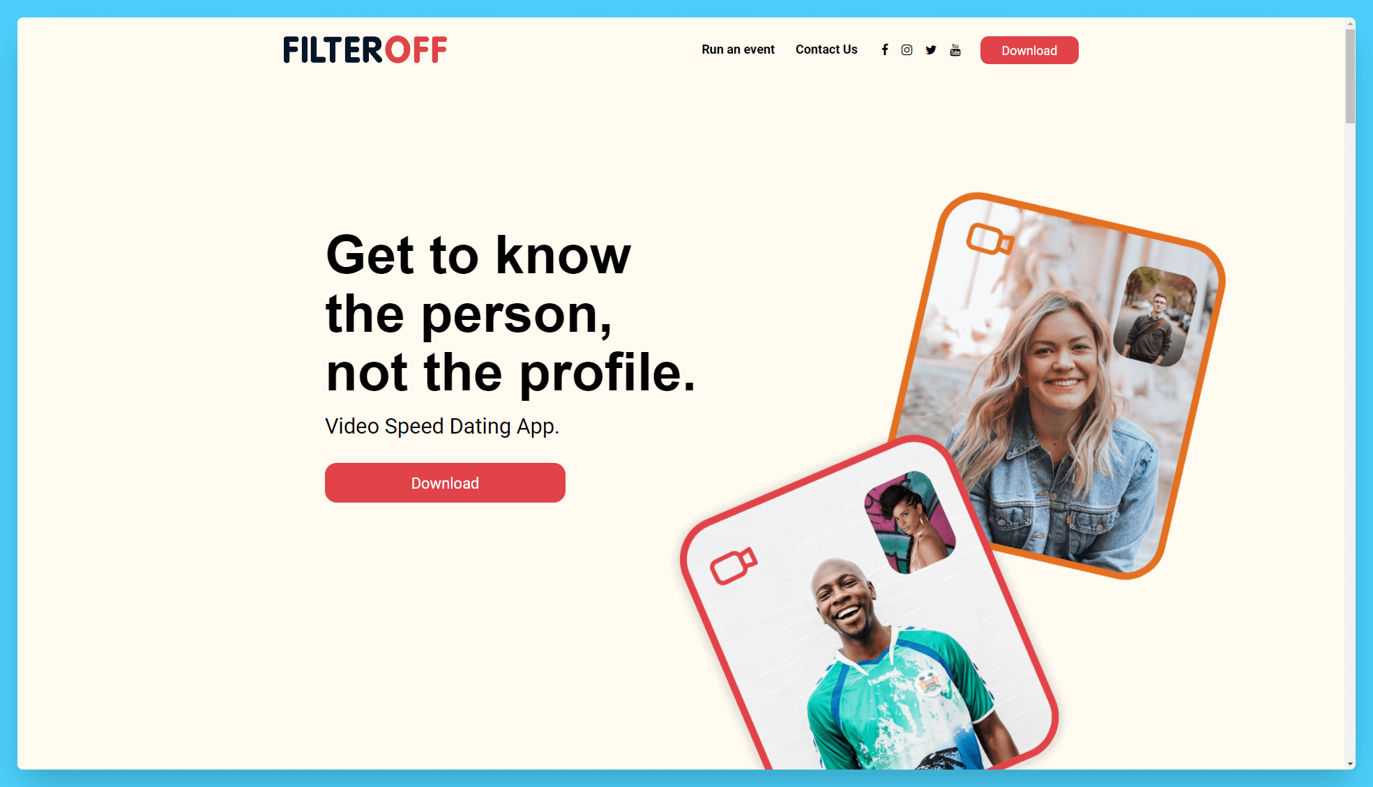 FilterOff Landing Page Layout SEO Tips Example Using Colors