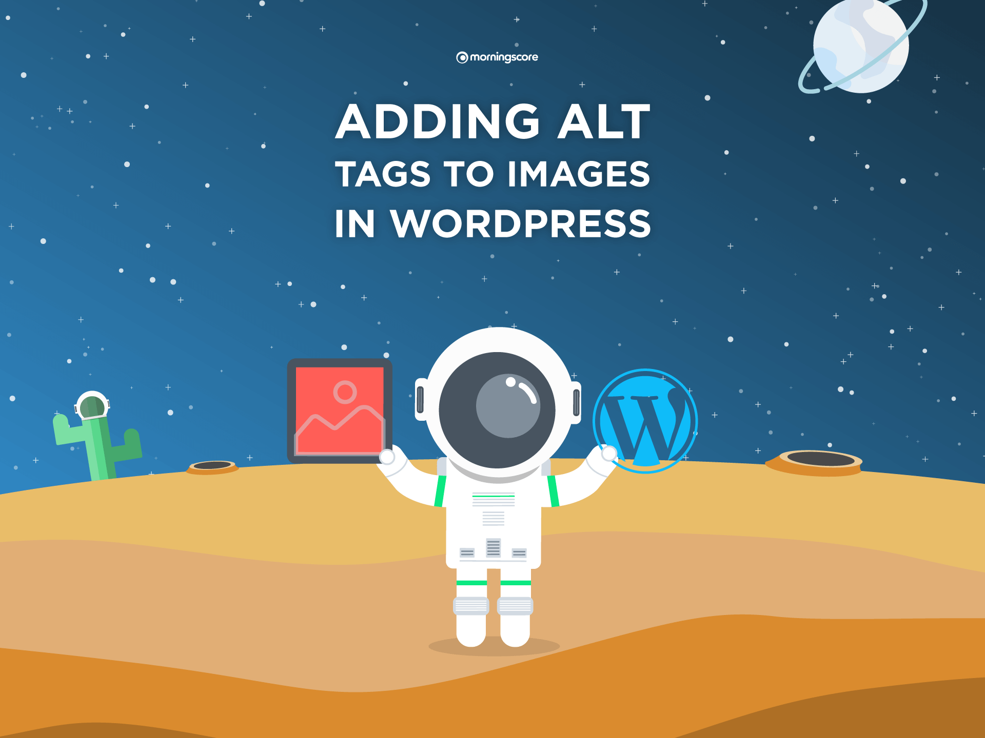 how to add the alternative text attribute to wordpress images