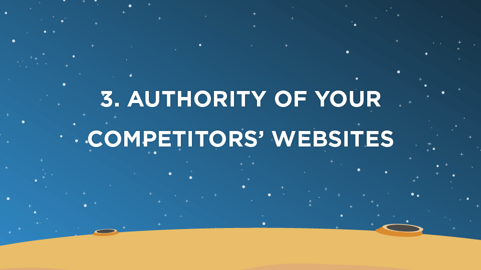 3. Authority of Your Competitors' Websites