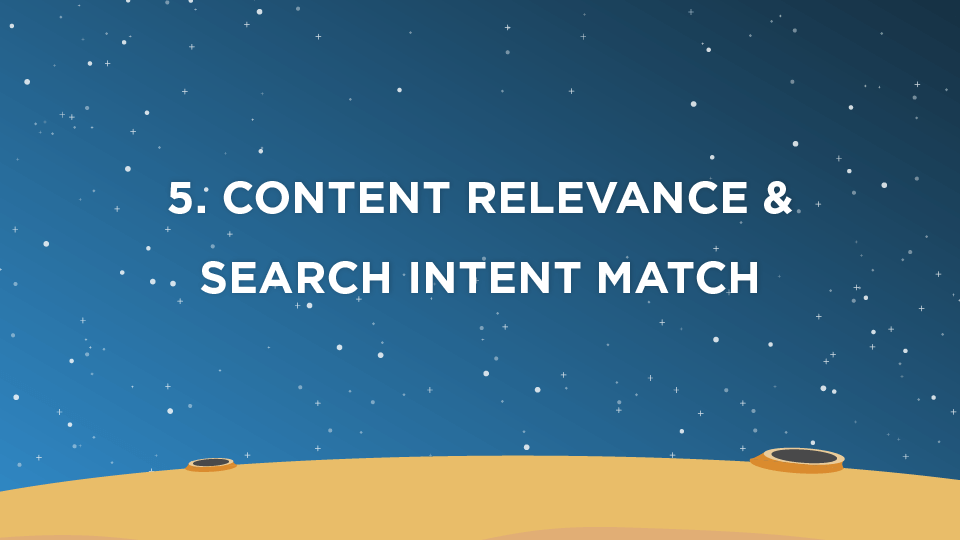 5. Content Relevance & Search Intent Match