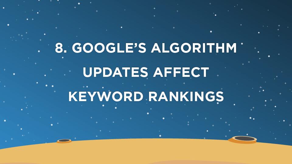 8. Google's Algorithm Updates Affect Keyword Rankings