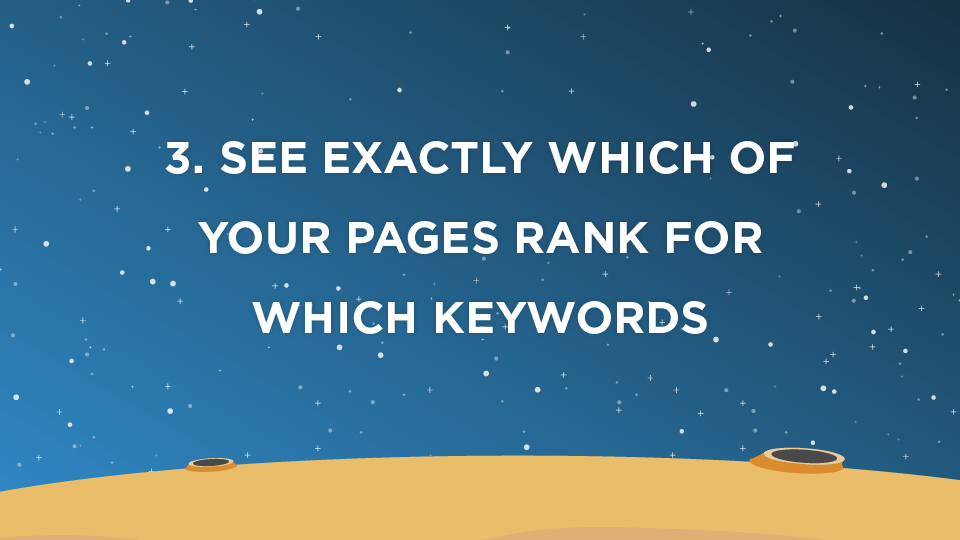 3. See exactly which of your pages rank for which keywords