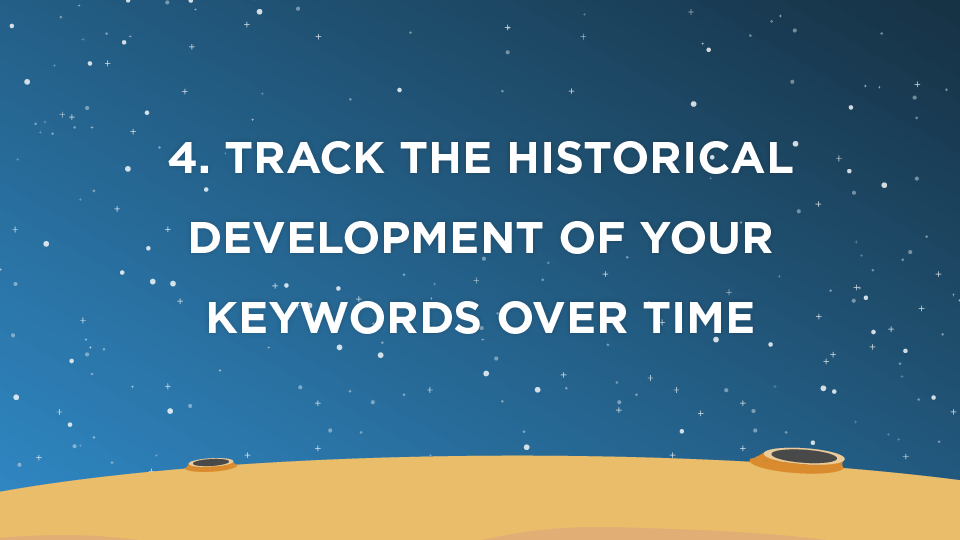 4. Track the historical development of your keywords over time