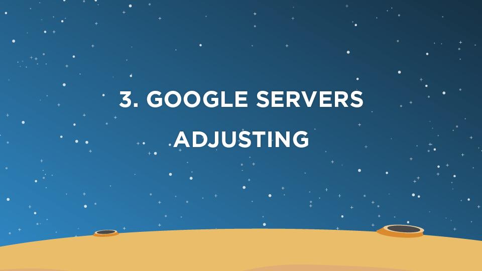 3. Google Servers Adjusting