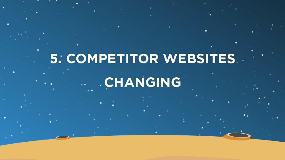 5. Competitor Websites Changing