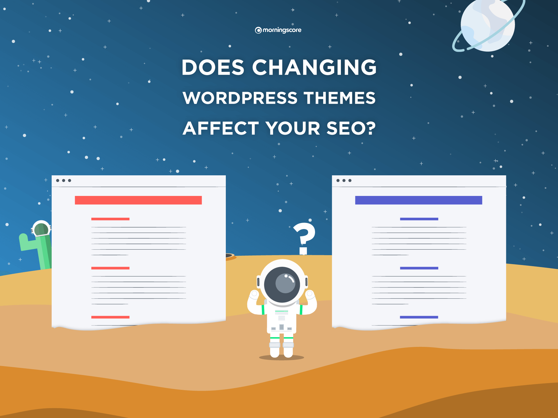 does changing wordpress theme affect seo rankings and traffic