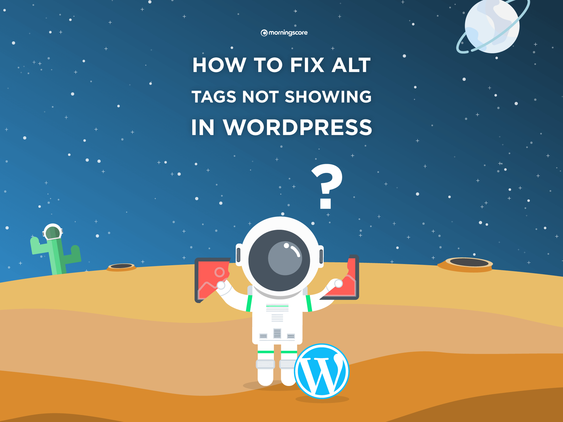 fixing alt attribute not showing in wordpress featured image
