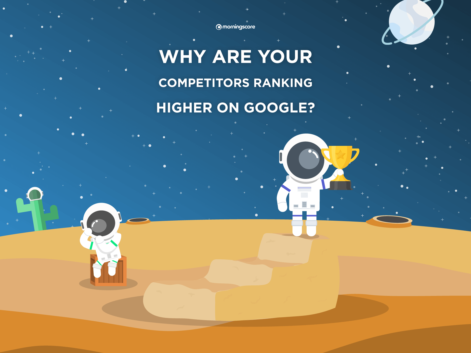 why is competitor ranking higher on google