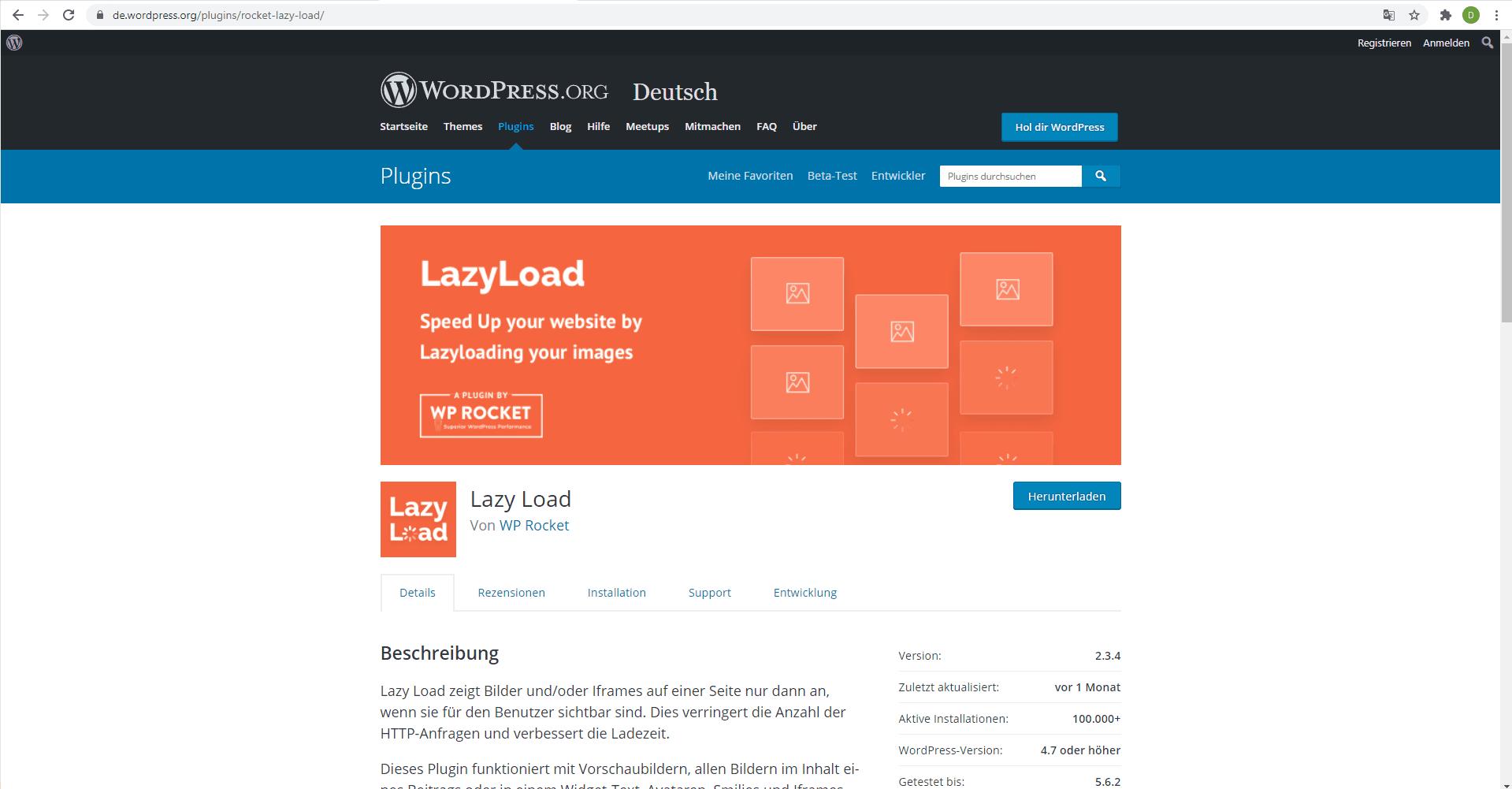 Nutze die Lazyload-Methode für Bilder & Videos