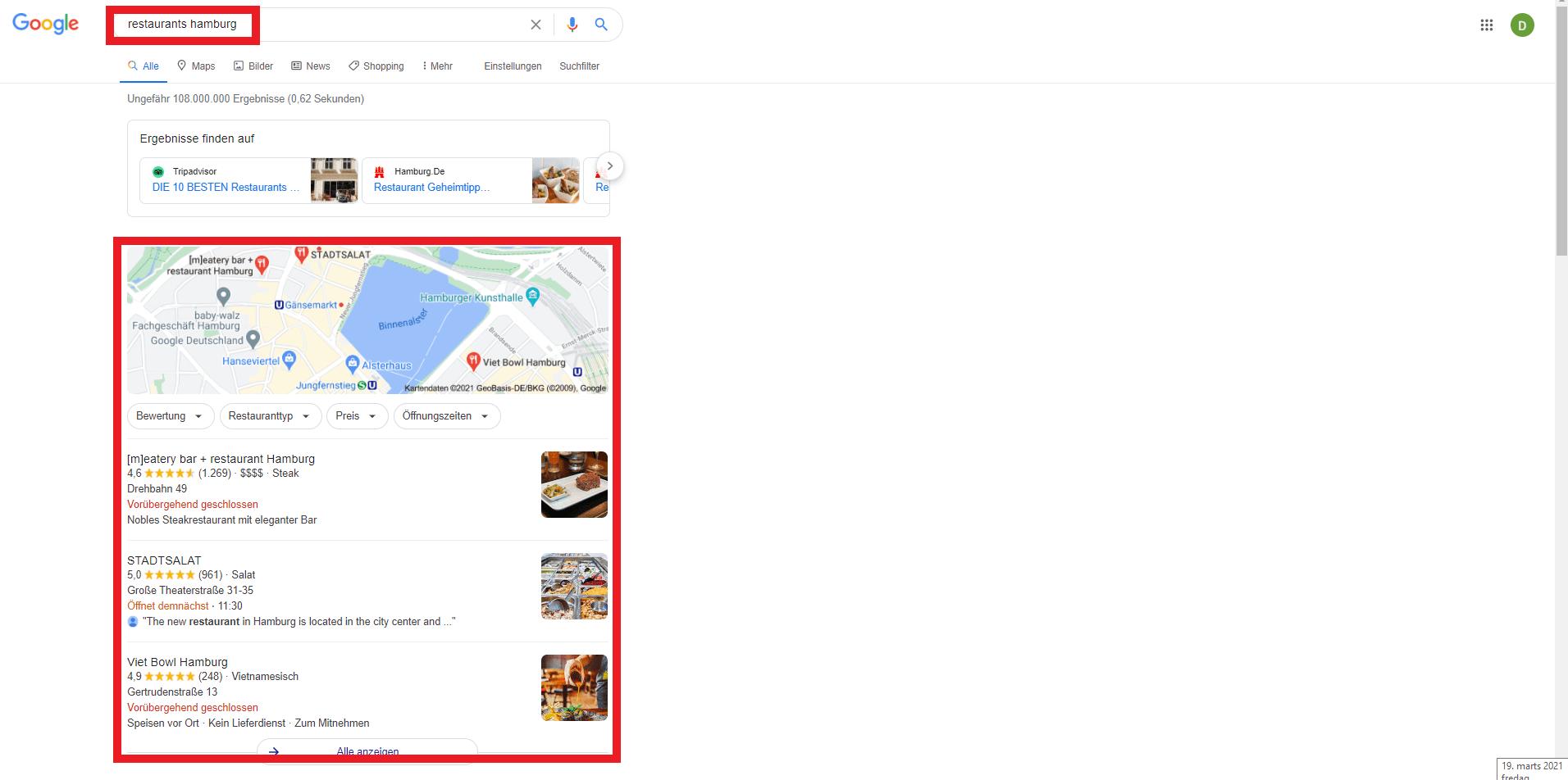 Überhole die Konkurrenz mit Google My Business