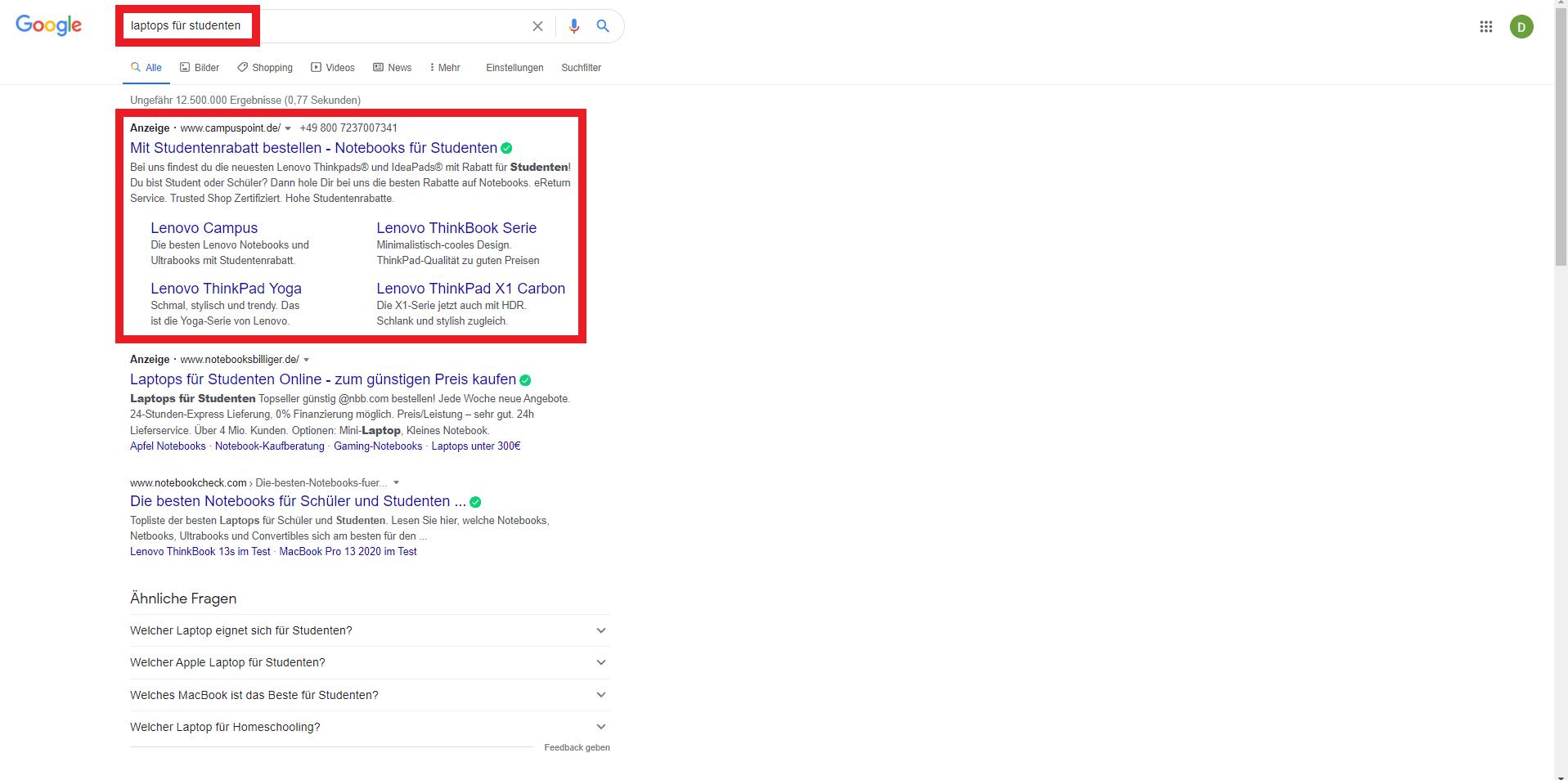 Verwende strategische Google-Ads