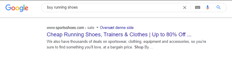 title tag example 3 transactional buy running shoes
